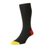 Portobello Black Cotton Socks