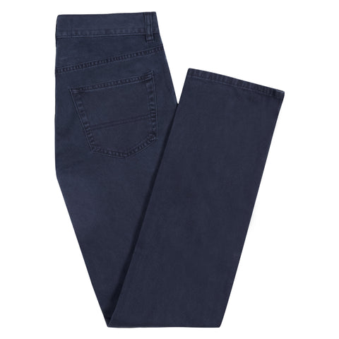 Navy Treyton Twill Trousers