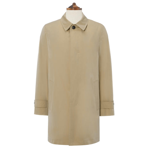 Sheridan Beige Cotton Blend Raincoat