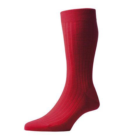 Laburnum Red Wool Socks