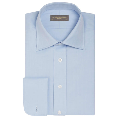 AINSLEY LIGHT BLUE HERRINGBONE SHIRT