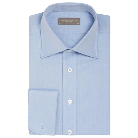 Blue AINSLEY HERRINGBONE SHIRT