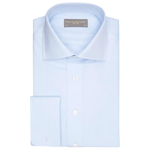 ANGUS LIGHT BLUE HERRINGBONE SHIRT