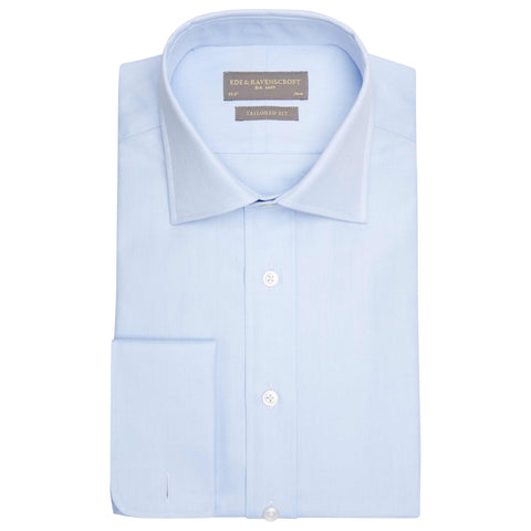 ANDREW LIGHT BLUE HERRINGBONE SHIRT