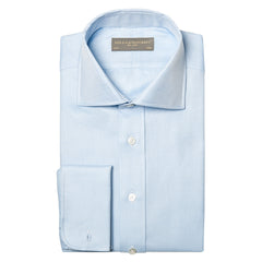 Angus heavy twill shirt - Light blue