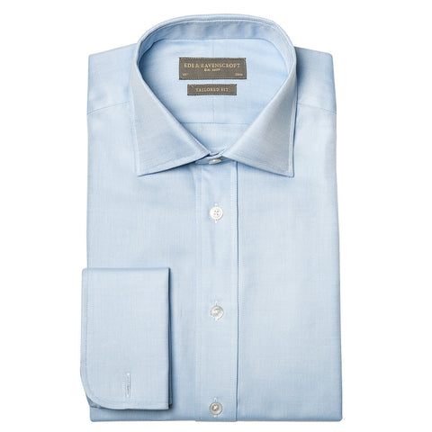 ANDREW LIGHT BLUE HEAVY TWILL SHIRT
