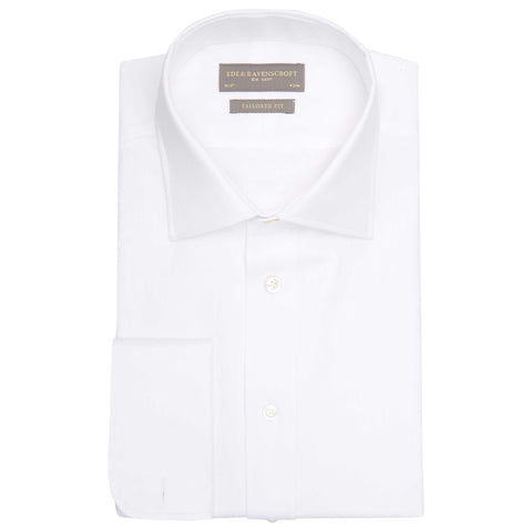 ANDREW WHITE HEAVY TWILL SHIRT