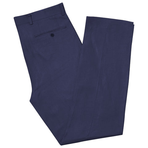 BARNEY NAVY LINEN TROUSERS