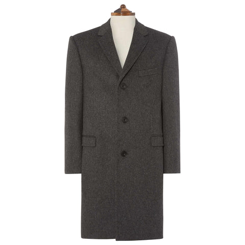 GREY GRANARD WOOL COAT