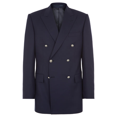 Belgrave Navy Double Breasted Wool Blazer