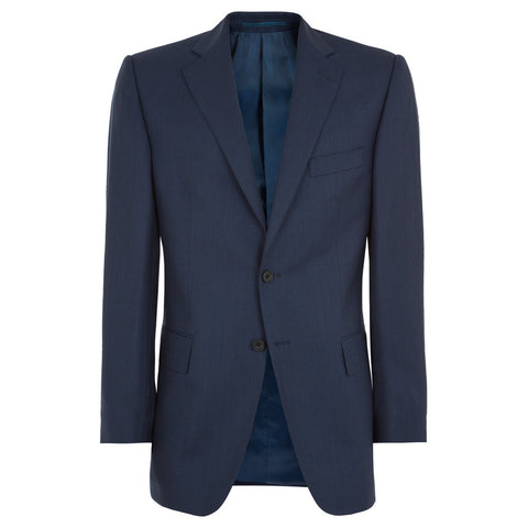 NAVY CAMBRIDGE SHARKSKIN WOOL SUIT