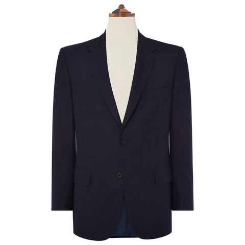 HIGHBURY NAVY HERRINGBONE WOOL SUIT