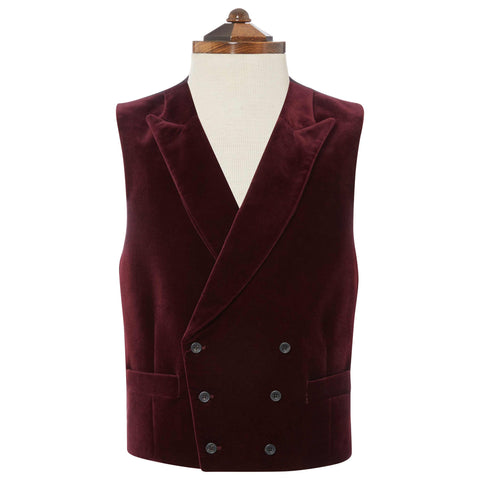 MILLFORD DOUBLE BREASTED VELVET WAISTCOAT