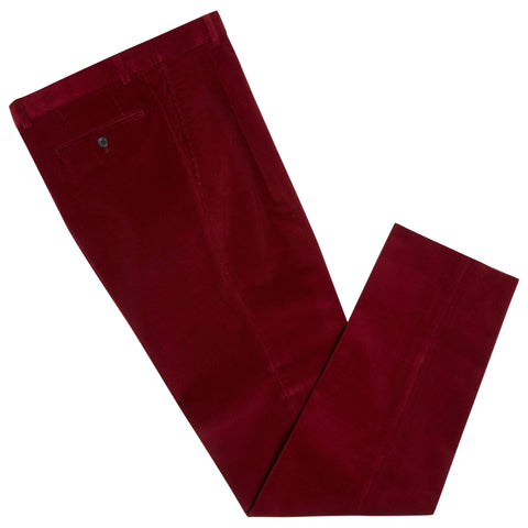 TYLER WINE COTTON CORDUROY TROUSERS