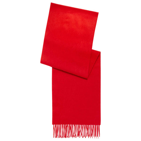 Solid Red CASHMERE SCARF
