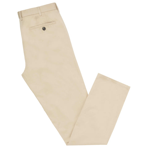 Terrance Beige Cotton Trouser