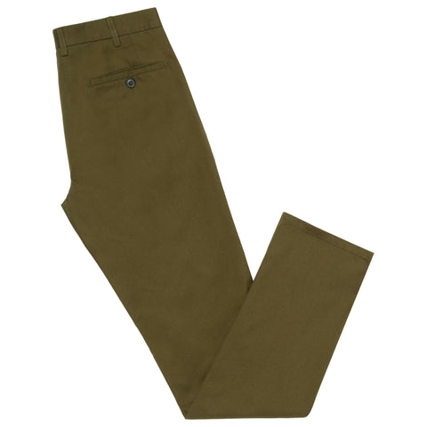Terrance Green Cotton Chino Trouser