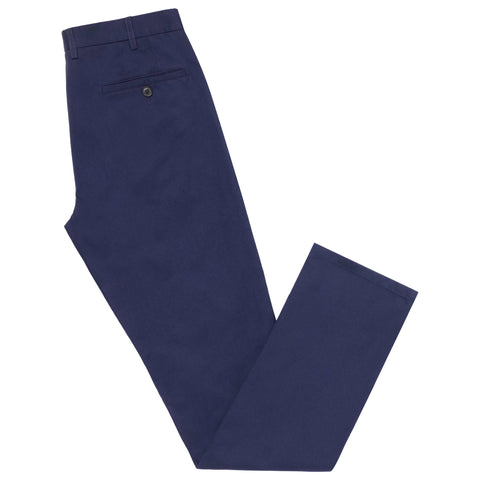 Terrance Light Navy Cotton Trouser