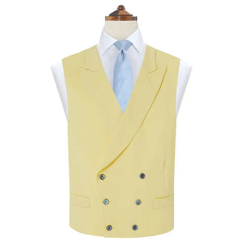 Hayward Yellow Royal Gabardine Wool Waistcoat