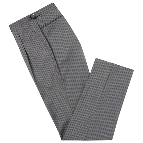 GREY TOLBERT STRIPE DRESS TROUSERS