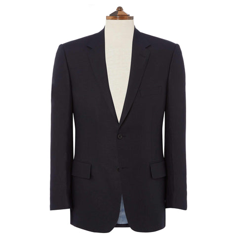 NAVY GEORGE SLIM FIT LINEN JACKET
