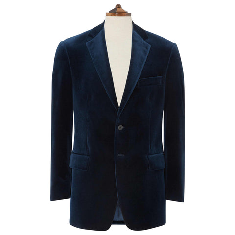 William French Navy Velvet Jacket