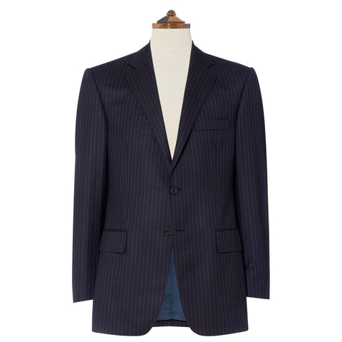 Navy Cambridge Stripe Suit