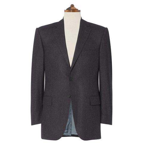 Charcoal Richmond Flannel Suit