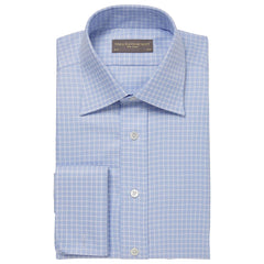 Blue Ainsley Check Twill Shirt