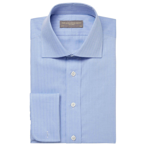 Blue Angus Herringbone Shirt