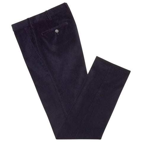 Terrance Navy Corduroy Trousers