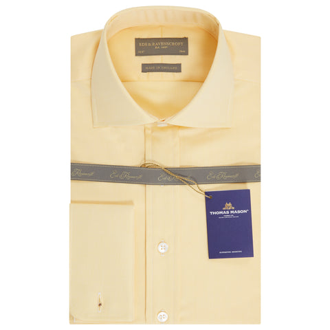 Ambrose Yellow Royal Oxford Cotton Shirt