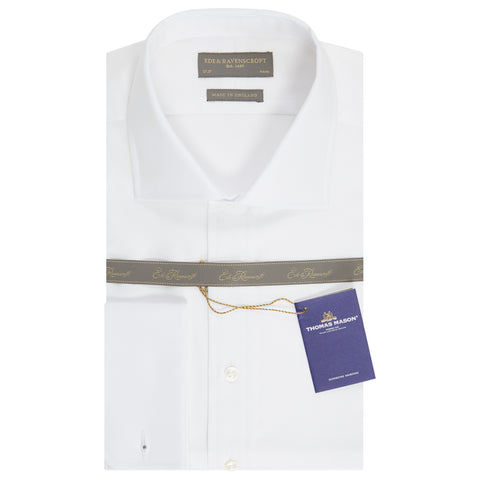 Ambrose White Royal Oxford Cotton Shirt