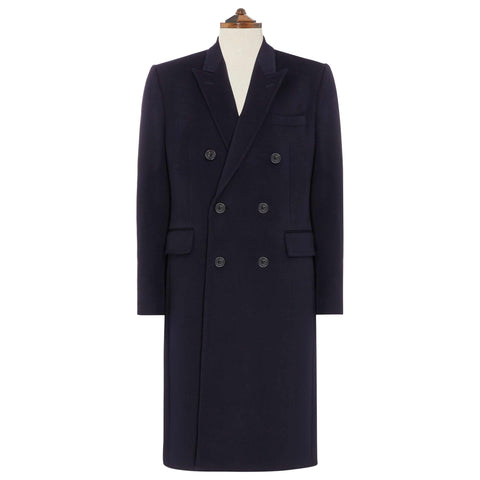 Halesworth Navy Wool Cashmere Coat