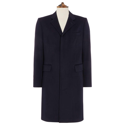 Warrington Navy Wool Cashmere Coat