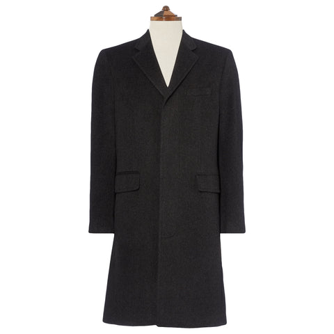 Warrington Charcoal Wool Cashmere Coat