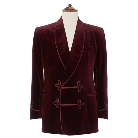 Bloomsbury Burgundy Velvet Jacket