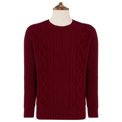 Burgundy Clifton Sweater
