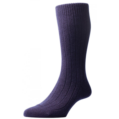Navy Waddington Socks