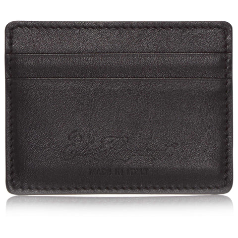 Black Hard Leather Credit Card Holder