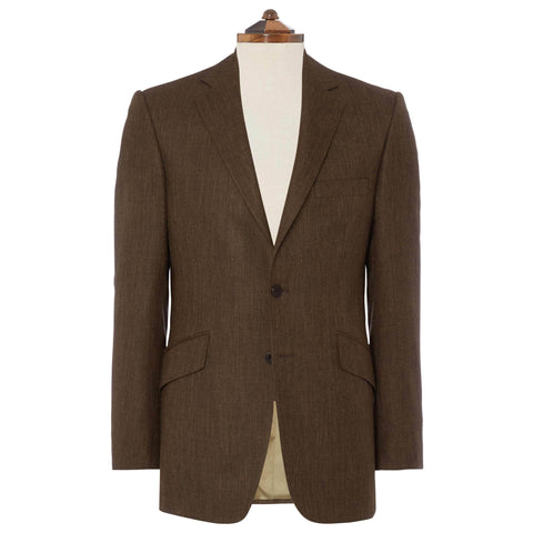 Brown William Wool, Silk and Linen Jacket