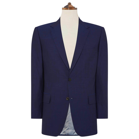 Blue Hampstead Plain Weave Suit