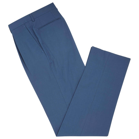 Blue Tyler Plainweave Cotton Trousers