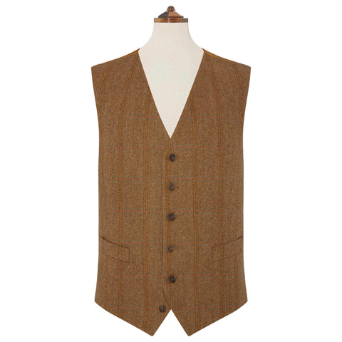 Brown Hyde Check Waistcoat