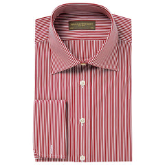 Burgundy Ainsley Bengal Stripe Shirt