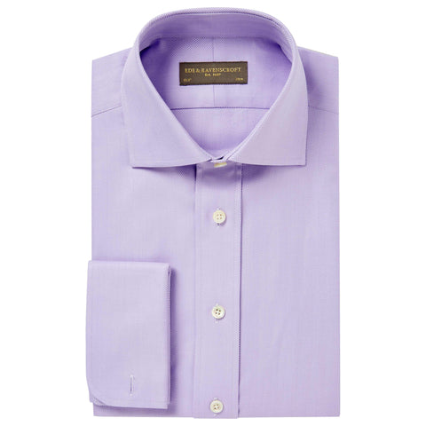 Lilac Ainsley Herringbone Shirt