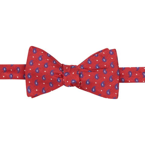 Red Foulard Teardrop Silk Bow Tie