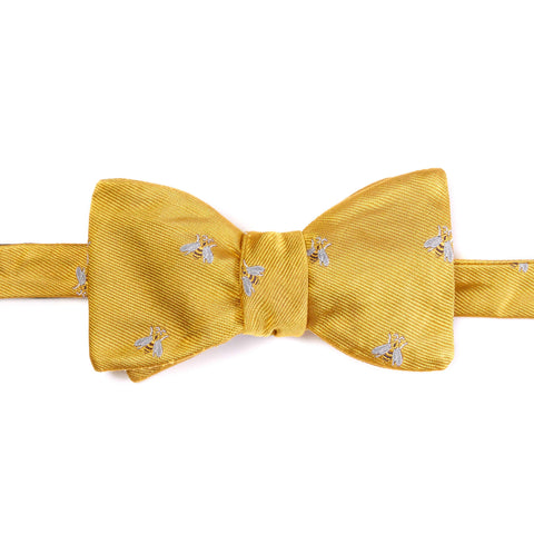 Yellow Bee Bow Tie