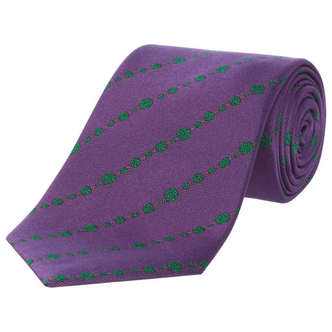 Purple Topiary Silk Tie