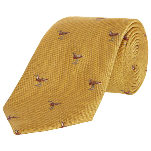 Yellow Duck Silk and Cotton Tie